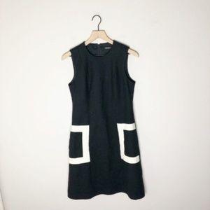 J. McLaughlin Black / Tan Sleeveless Dress